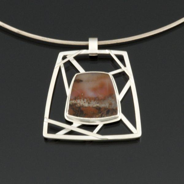 Web of the City pendant by Jewel Clark