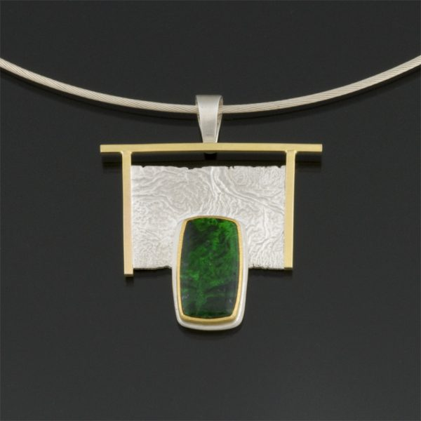 Sterling silver, 14K, 22K and maw sit sit pendant