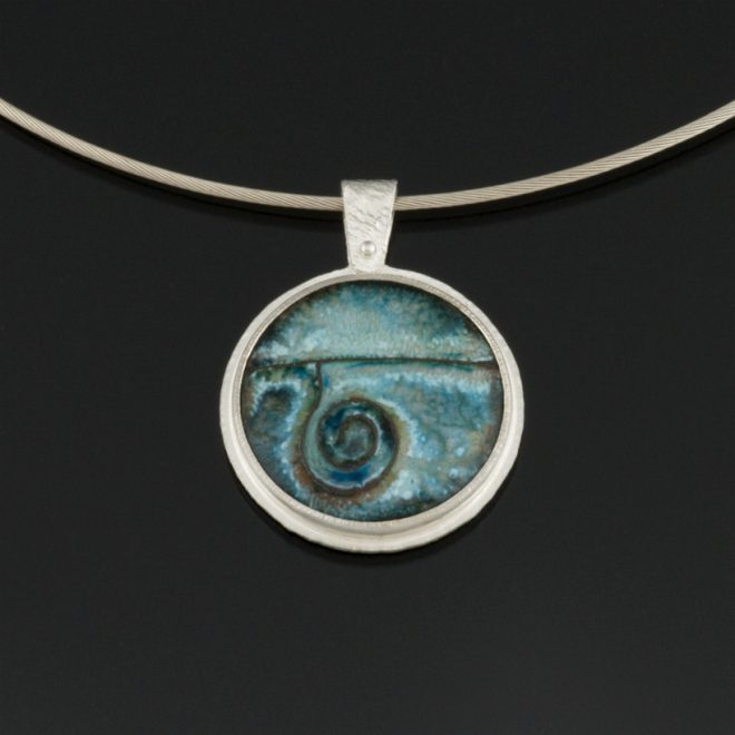 Copper Cloisonne pendant by Jewel Clark