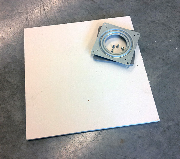 How to make an economical rotating soldering surface: soldering board and lazy susan hardward