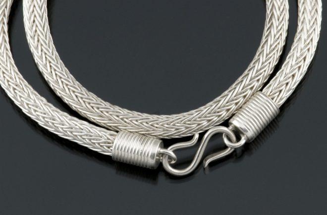 22g fine silver woven chain